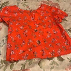 🔥🔥🔥Never worn Zara Red floral